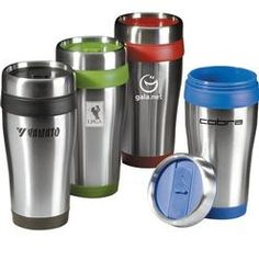 Saint Tumbler - 16 oz. stainless steel travel tumbler with custom printed logo.  As low as $4.18 each. #PromotionalGifts #Business