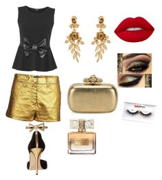 """""""Glamour on a summer night"""" by yummycaramel on Polyvore featuring WearAll, Chanel, Oscar de la Renta, Alexander McQueen, Givenchy and Morphe"""