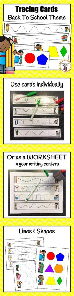 I love these fun tracing cards!  My kiddos get to work on developing their handwriting, pencil grasp and fine motor skills while having fun!  Great for homeschool activities, preschooler, kindergarten and first grade writing centers.