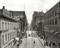 Kansas City, Missouri, circa 1906. Petticoat Lane. And Denture Alley. 8x10 inch dry plate glass negative, Detroit Publishing Company