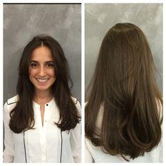 Cheveux bruns naturels - Réalisé par notre salon partenaire Raphaël Perrier Paris