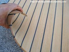 NuTeak has the luxurious look and feel of an authentic teak deck that . - NuTeak has the luxurious look and feel of an authentic teak deck that you … - Make A Boat, Build Your Own Boat, Diy Boat, Rideaux Camping-car, Transporteur Volkswagen, Vw T5, Foodtrucks Ideas, Teak, Vw California Beach
