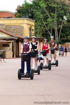 Take a Segway tour through Epcot's World Showcase at Walt Disney World. MouseTalesTravel.com