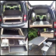 VW Caddy/Camping/Bett/(optional Tisch /Küche) | eBay