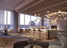 77 Greenwich is conveniently located in Manhattan. Our elegant high-rise features spacious and modern bedroom floor plans. Condo Interior, Mansion Interior, Luxury Homes Interior, Home Interior Design, Interior Decorating, Apartments Decorating, Luxury Condo, Luxury Apartments, Private Dining Room