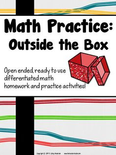 This is NOT your typical homework/practice resource!  You are definitely going to want to download the preview to see these 5 different activities that can be differentiated and used in SO many ways.  Check it out to see more!  $