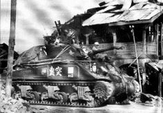 Chinese M4A4 Sherman tank in Burma, towards end of World War Two