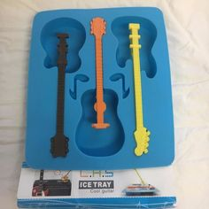 3 Cool Guitar Shape Ice Cube Tray