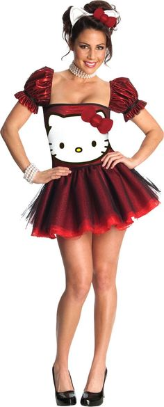 Adult Sequin Hello Kitty Costume - Party City