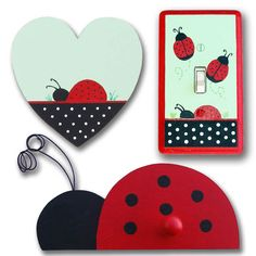 Ladybug Bedroom Decor   ... that coordinates with Jojo Designs Ladybug Parade bedding collection