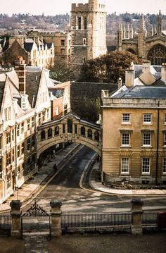 Bridge of Sighs from an aerial view - Oxford