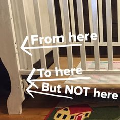 What do you do when your toddler keeps climbing out of his crib?? After another night of very little sleep I was determined to figure something out WITHOUT buying anything (because that's always my goal). I took out the drawer on the bottom and moved the base down. My first attempt was too low …