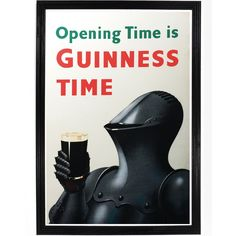 Pints of Guinness make you strong! This vintage Guinness poster will add a little sophistication to your home bar or man cave. All of our prints are beautifully rendered on 13 by 19 professional heavy