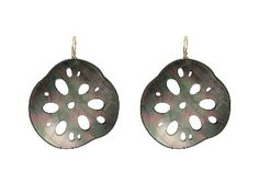 Large Locust Root Earrings - Oxidized Sterling Silver  by Annette Ferdinandsen, at Ylang | 23