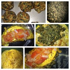 Spinach & carrots turkey meatloaf muffins converted to cagefree red onion egg omelet w/ turkey meatloaf crumble.  #whole30prep +red onions  +beefsteak tomatoes  + rosemary  +hawaiin alae sea salt  +IG @lola_ariana #mixedverde