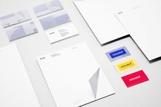 Logo and stationery design with geometric pattern detail created by Kokoro & Moi for Helsinki based architecture firm ALA