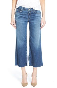 b063bf353c Free shipping and returns on Hudson Jeans 'Sammi' Crop Wide Leg Jeans  (Stingray