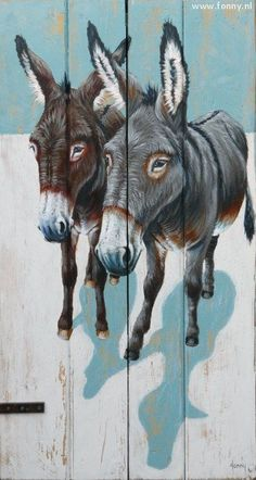 Daddy loved feeding donkeys he passed by on his bike route. Clip Art Pictures, Pictures To Draw, Tole Painting, Painting & Drawing, Wood Pallet Art, Barnyard Animals, Wildlife Paintings, Paintings I Love, Equine Art