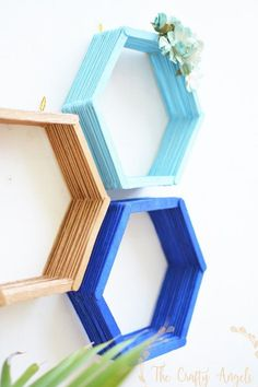 Epic 30 DIY Popsicle Stick Decor Ideas To Increase Your Interior Home wahyuputra.Epic 30 DIY Popsicle Stick Decor Ideas To Increase Your Interior Home wahyuputra.Home Wall Ideas Diy Hanging Shelves, Diy Wall Shelves, Floating Shelves Diy, Diy Wall Art, Floating Wall, Wall Storage, Bedroom Storage, Storage Ideas, Craft Storage