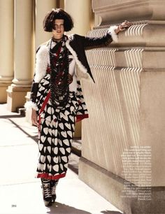 Vogue India Editorial October 2010 - Bette Franke by Paul Maffi