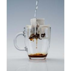 Pronto Cafe Instant Coffee.  Just pour hot water through the filter and you'll have yourself a fresh cup of coffee!