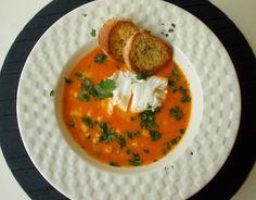 O Meu Tempero: Sopa de Peixe (Económica) Com Ovo Escalfado E Crou...