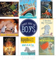 book week from jones design company: favorite books for boys. (more great suggestions in the comments section!)