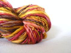 Handspun Superwash Merino Yarn Hand Dyed Sahara by TailsandSnouts, $35.00