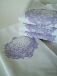 Vintage Etched Cauliflower Napkins   Set of by nicoleporterdesign, $28.00