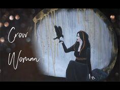 Crow Woman - Fantasy Painting in Acryl Fantasy Paintings, Painting Videos, Angel Art, Crow, Woman, Tv, Artwork, Instagram, Work Of Art