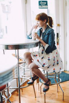 Ice cream date outfit (popsicles dress!) - The Clothes Horse