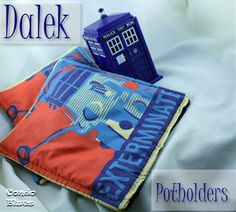How to Make Doctor Who Dalek Potholders #DoctorWho #craft #sewing #Dalek