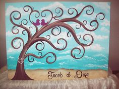 I love the idea of a thumbprint guestbook, and this painting is gorgeous, especially if we get married in Charleston.