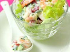 Recipe Prawn yogurt salad - Petitchef