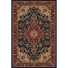Bliss Rugs Kira Traditional Area Rug, Blue