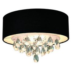 GEN-LITE - Rossini Ceiling Fixture - With Black Shade And Crystals - 103811N - Home Depot Canada