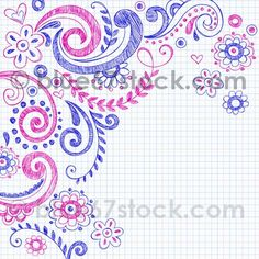 Sketchy Notebook Doodle Vector Illustration by blue67 by blue67design, via Flickr