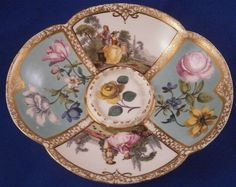 Rare 18thC Meissen Porcelain Trembleuse Scenic Saucer Porzellan Untertasse