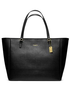 COACH SAFFIANO LEATHER LARGE EAST/WEST TOTE - Tote Bags - Handbags & Accessories - Macy's