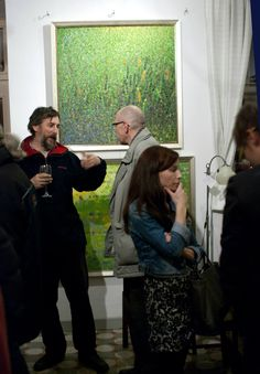 Anna Wolska - painting exhibition in the galery Po prawej stronie Wisły, 05/12/2014, Warsaw, Poland