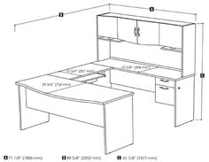 U Small u shaped kitchen design plans Mission style u shaped desk Glass  desks It utilizes