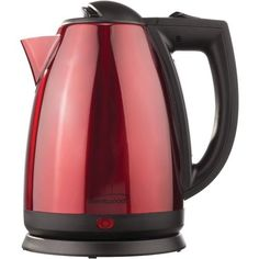 BRENTWOOD KT-1805 1.7-Liter Red Stainless Steel Electric Cordless Tea Kettle