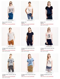 JCrew - full face & upper body model, each product is a look, fully styled & accessorized