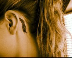really love the idea of a behind the ear tattoo. More