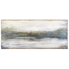 Jan Burns uses layers and layers of tinted plaster to create her beautiful pieces of art. Her paintings are meant to bring out a different kind of emotion from each person viewing it. #waterscape #plaster #Michiganmade #Michiganartists #wallart