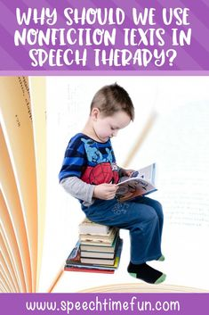 why should we use nonfiction texts in speech and language therapy - evidence based strategies for your older speech students to target a variety of goals such as summarizing, inferencing, vocabulary, and more. #speechtherapy #evidencebasedspeech #middleschoolspeech #schoolspeechtherapy