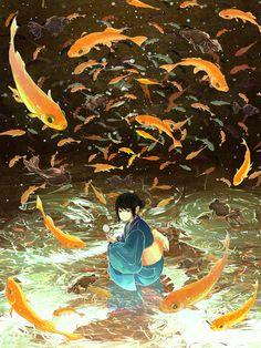 Discover all images by @ m a s s I v e. Find more awesome anime images on PicsArt. Yuumei Art, Art Manga, Image Manga, Anime Scenery, Asian Art, Japanese Art, Art Inspo, Amazing Art, Fantasy Art
