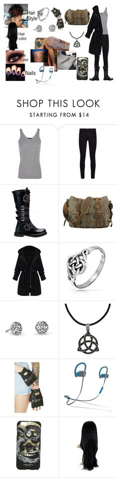 """""""Ashley Wilson (Outfit 1 part 1)"""" by adreianna-arroyo on Polyvore featuring ATM by Anthony Thomas Melillo, 7 For All Mankind, Demonia, WithChic, Bling Jewelry, Carolina Glamour Collection, Funk Plus, Beats by Dr. Dre and Marcelo Burlon"""