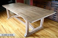 diy zgallerie dining table with restoration hardware inspired finish, diy, how to, painted furniture, rustic furniture, woodworking projects, My DIY ZGallerie inspired dining table