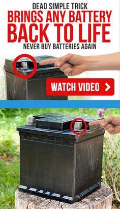 Cordless Drill Batteries, Ryobi Battery, Battery Recycling, Lead Acid Battery, Restoration, Bring It On, Tips, Epsom Salt, Phone